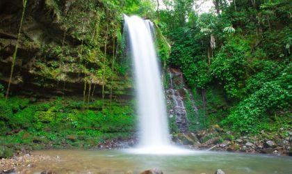 Beautiful Mahua Waterfall, Crocker Range Mahua Tambunan,Sabah,Malaysia